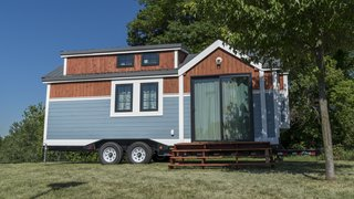 The one-bedroom, one-bathroom, 280-square-foot tiny mobile home was designed and constructed by the students at Henry Ford College in the Detroit Metro area.