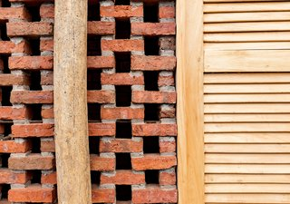 """""""The material, the architectural program of the project, highlighted with different logics of implementation of brick, provides privacy and permeability,"""" says Natura Futura Arquitectura founder Jose Fernando Gomez."""