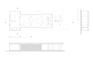 Floor plan and sectional drawing