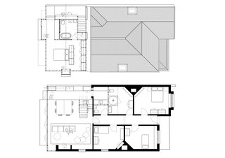 A drawing of the floor plan.