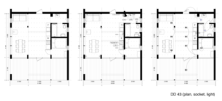 DD 43 floor plan drawing