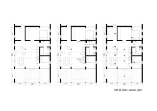 DD 65 floor plan drawing