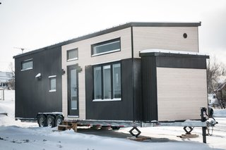 Completed in 2017, this 485-square-foot house is the team's latest and largest tiny home.
