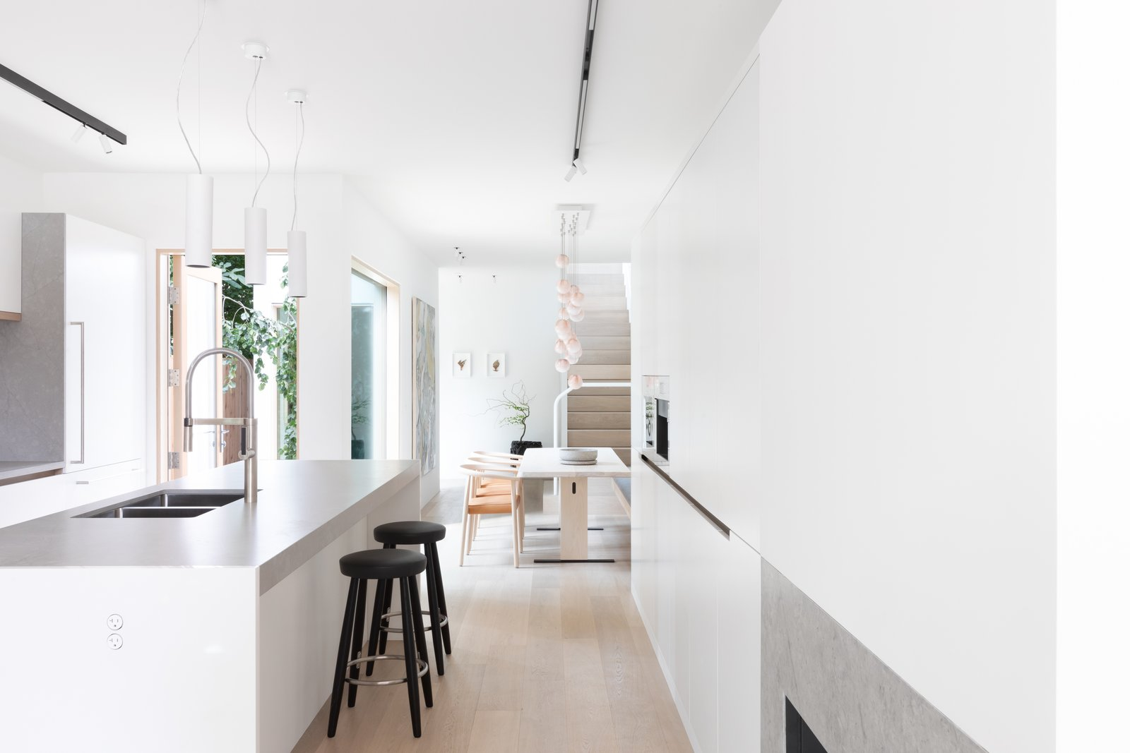 11 Skylights Brighten a Compact, Narrow Home in Vancouver