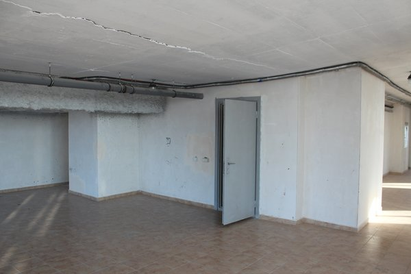 Before: the entrance to the equipment room.