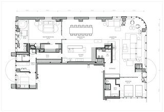 A look at the floor plan drawing of the renovated penthouse.