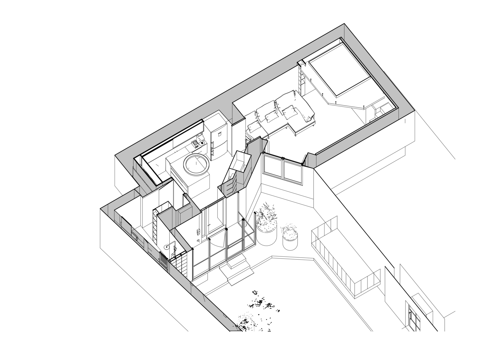 Here is the Little Flat Floor-Plan Model.    Photo 16 of 16 in Before & After: A Little Flat in Ukraine Gets a Modern Upgrade