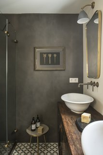 Bathroom fixtures from The Watermark Collection.