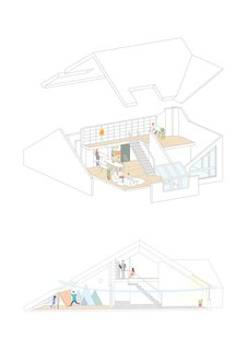 The Starburst House Diagram Drawing