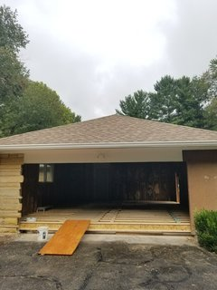 Before: a look at what would soon become a new garage addition