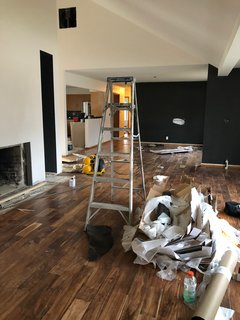 Before: the interior spaces prepped for renovation
