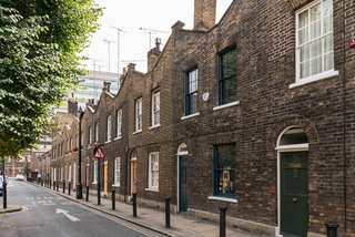 Roupell Street is in a conservation area of modest, brick terrace houses in London that was first developed by John Palmer Roupell in the 1820s.