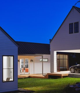 A carport enables more outdoor deck space.