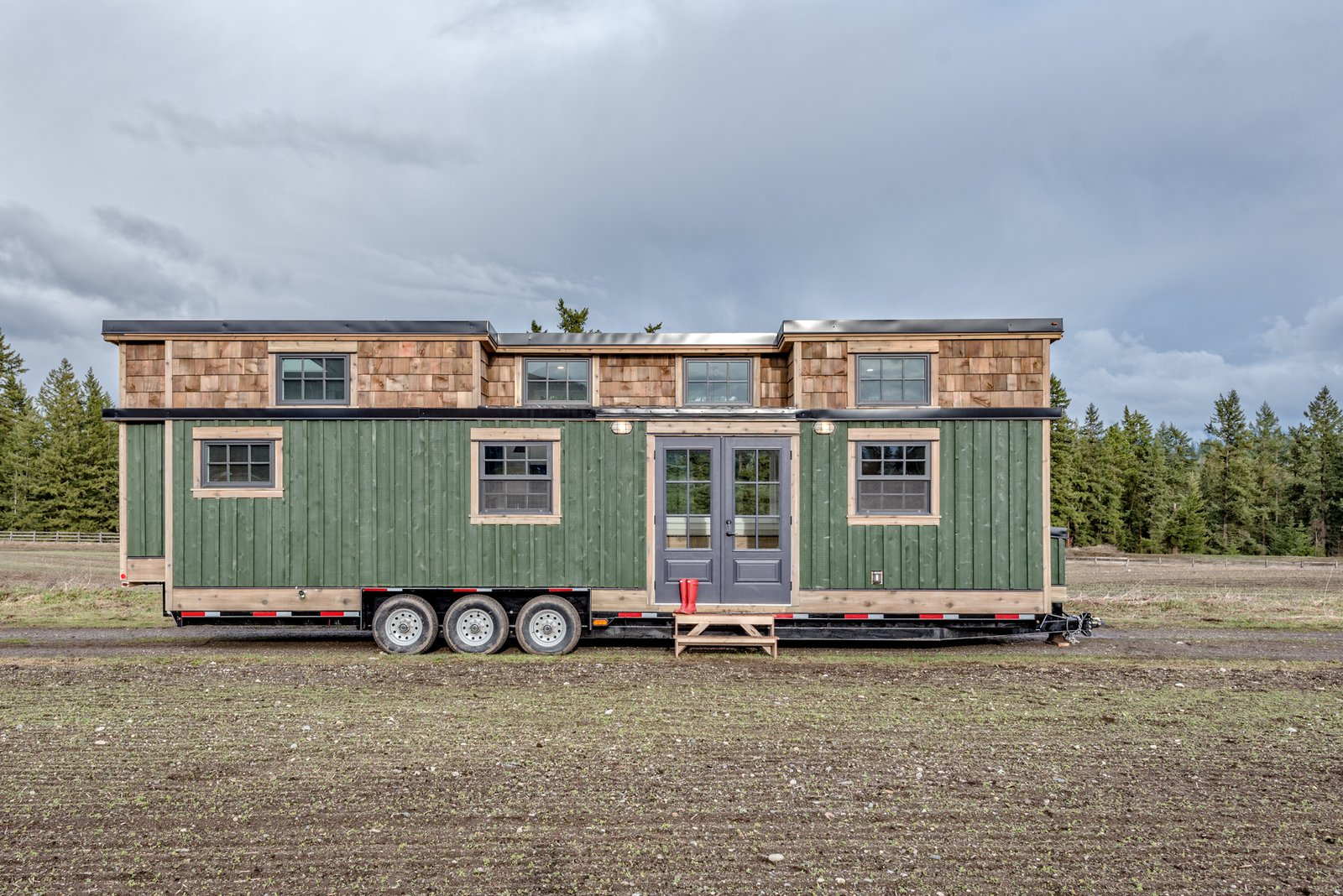 Exterior, Tiny Home, Small Home, Wood, Metal, and Flat  Best Exterior Metal Wood Flat Tiny Home Photos from This Canadian Tiny Home Beams a Rustic, West Coast Vibe