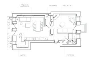 Lower floor plan drawing.
