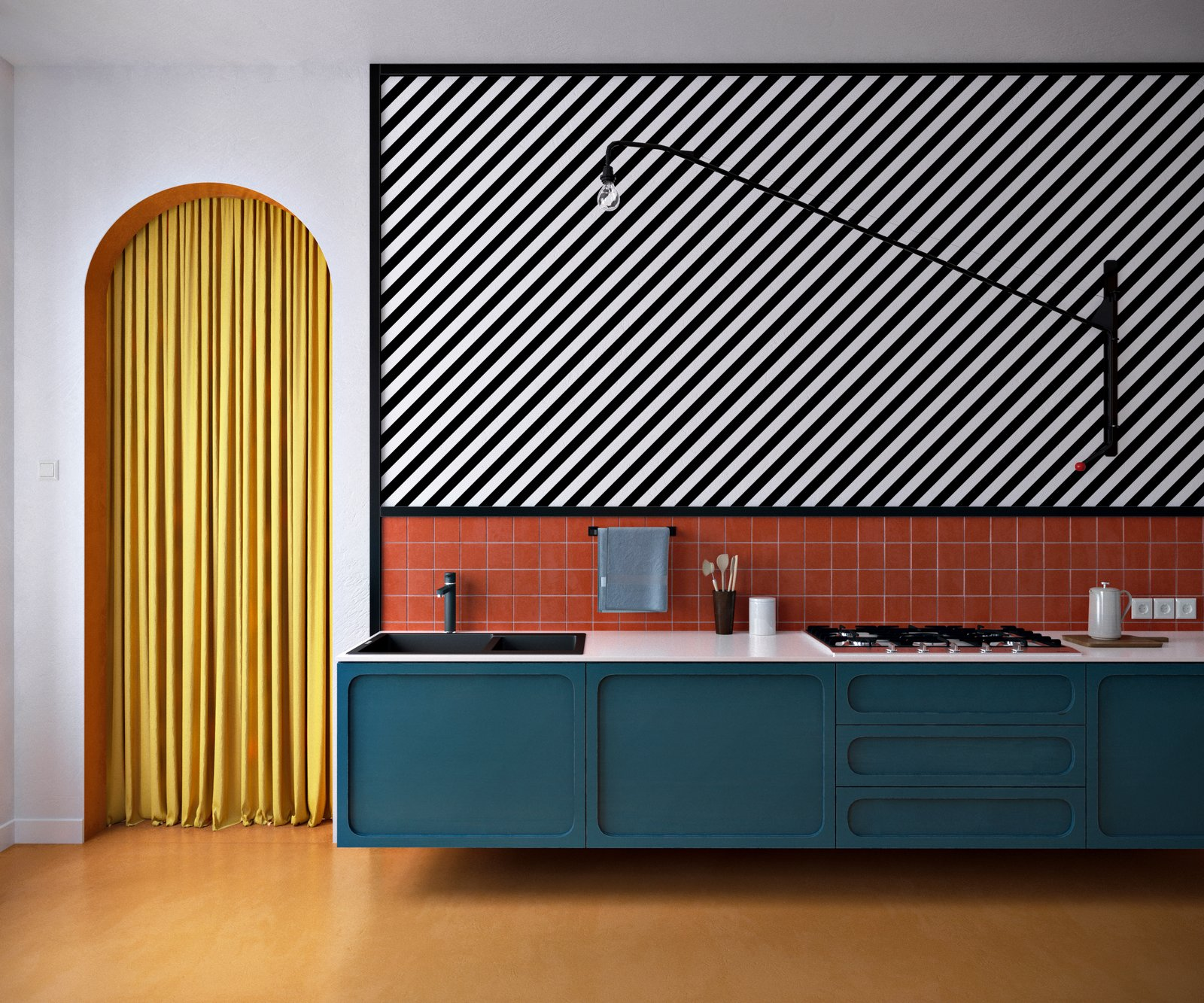 Bright Colors Meet Bold Patterns in This Compact Oslo Abode