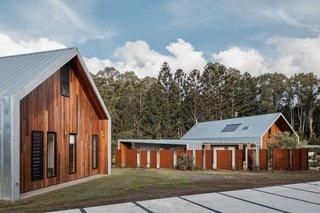 Two Barn-Like Volumes Make Up This Low-Maintenance Australian Home