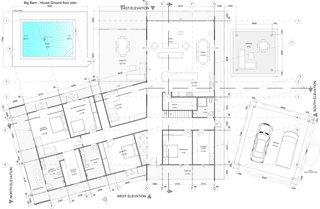 Twin Barns main house floor plan