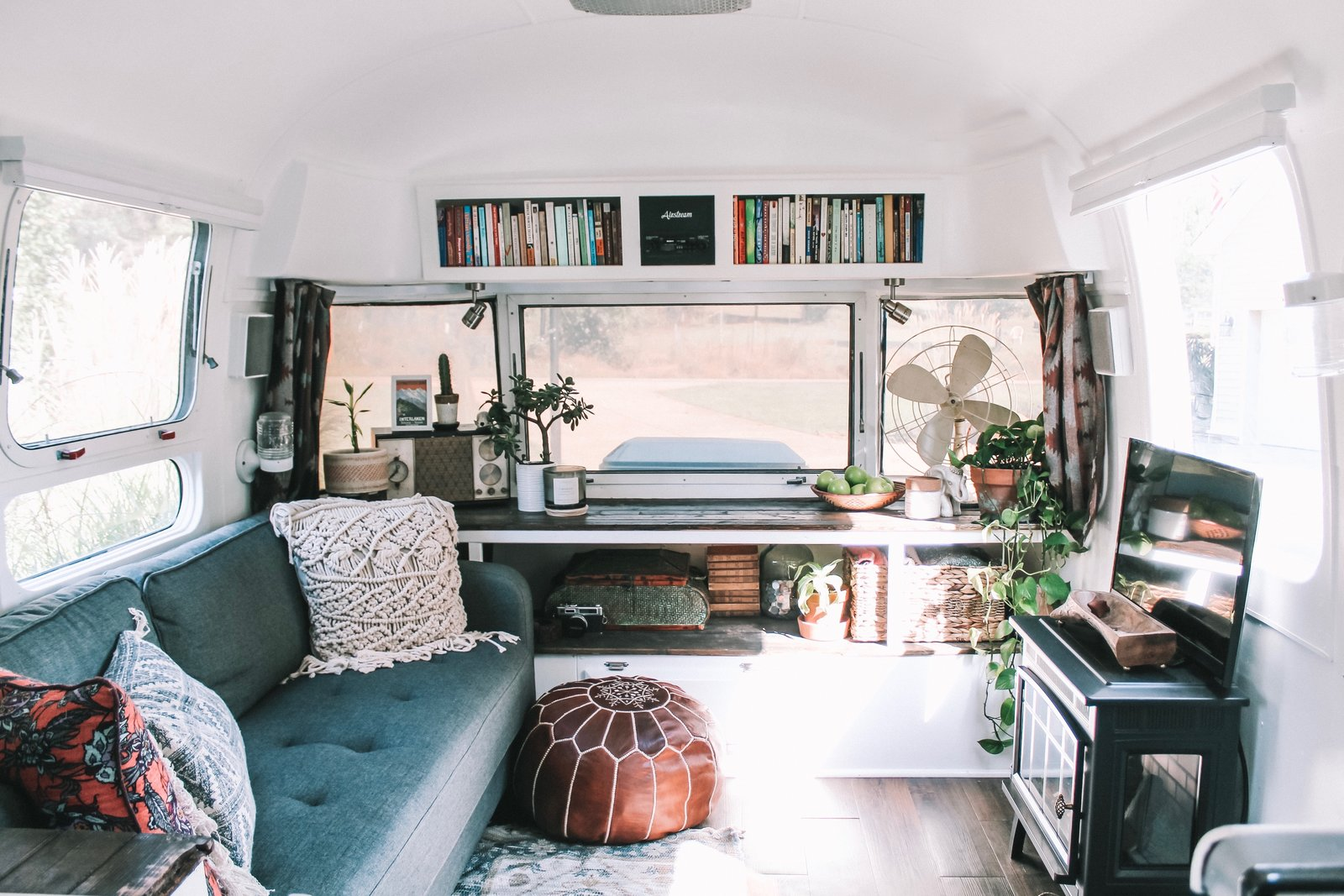 Before After Augustine The Airstream Gets A Chic Diy