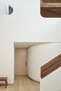 Dash Marshall custom designed the handrail for the stairs.