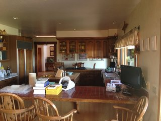 Before: The cramped kitchen.
