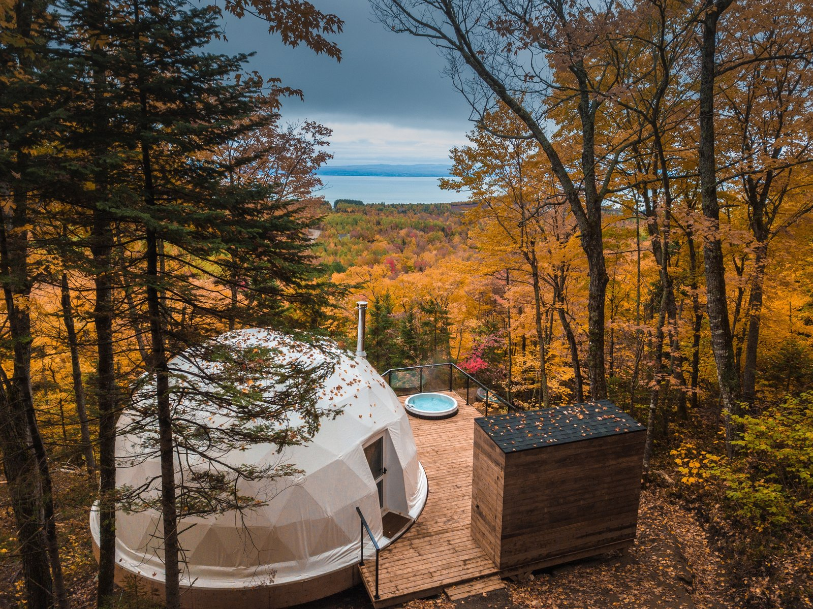 Sleek Geodesic Domes Make Up This Canadian Eco-Retreat