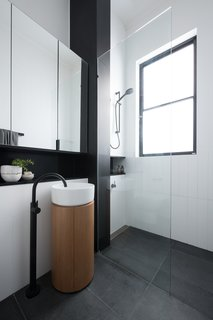 The Inspira Round Vessel bathroom basin is by Roca.