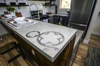 A custom concrete counter top by Set in Stone.
