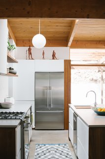 A Fisher & Paykel refrigerator.
