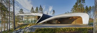 The Wave House Is a Futuristic Finnish Home With a Sweeping Roof