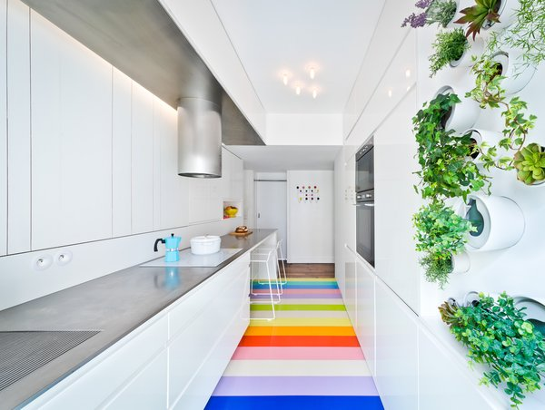 A Fashion Designer's Parisian Apartment Gets a Cheerful Update—and a Rainbow Floor