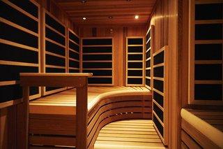An infrared sauna.