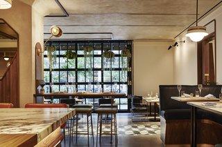 Inside the American Son restaurant