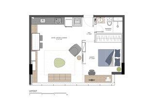 Gomez apartment floor plan drawing