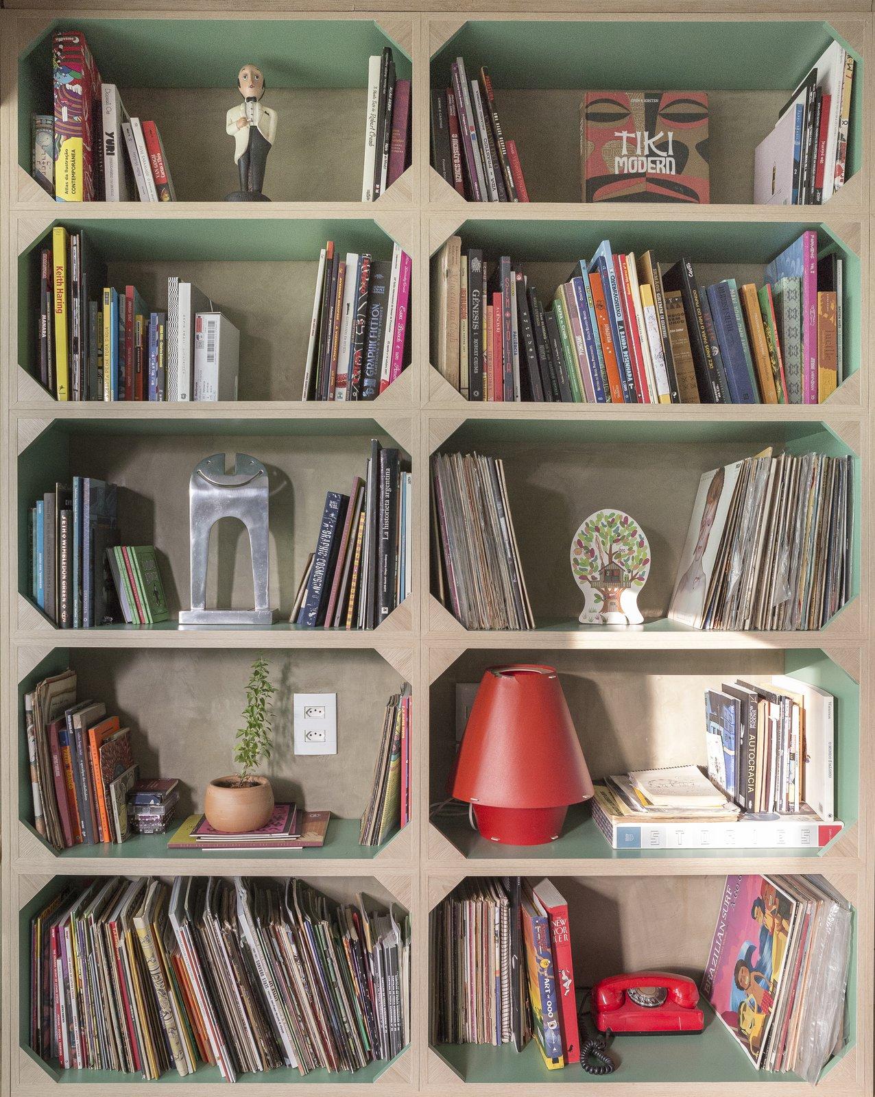 Gomez Apartment custom bookshelf