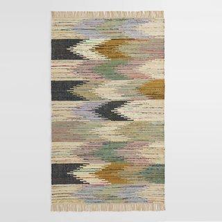 5' x 8' Multicolor Abstract Chevron Cotton Kilim Sedona Area Rug
