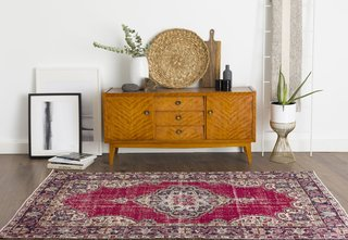 Handwoven and hand knotted in Isparta, Turkey, the Adalicia rug is available for $370.