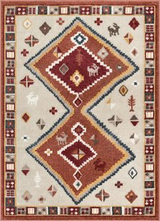 Coby Crimson Tribal Rug from the Allegra Collection