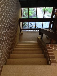 The staircase before the renovation.