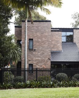 The sturdy brick home was designed by Australian midcentury architects Payne & Hunt.
