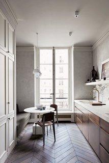 10 Dreamy Parisian Homes - Photo 6 of 10 - Simply Paris<br>The Paris kitchen of architect  Joseph Dirand.