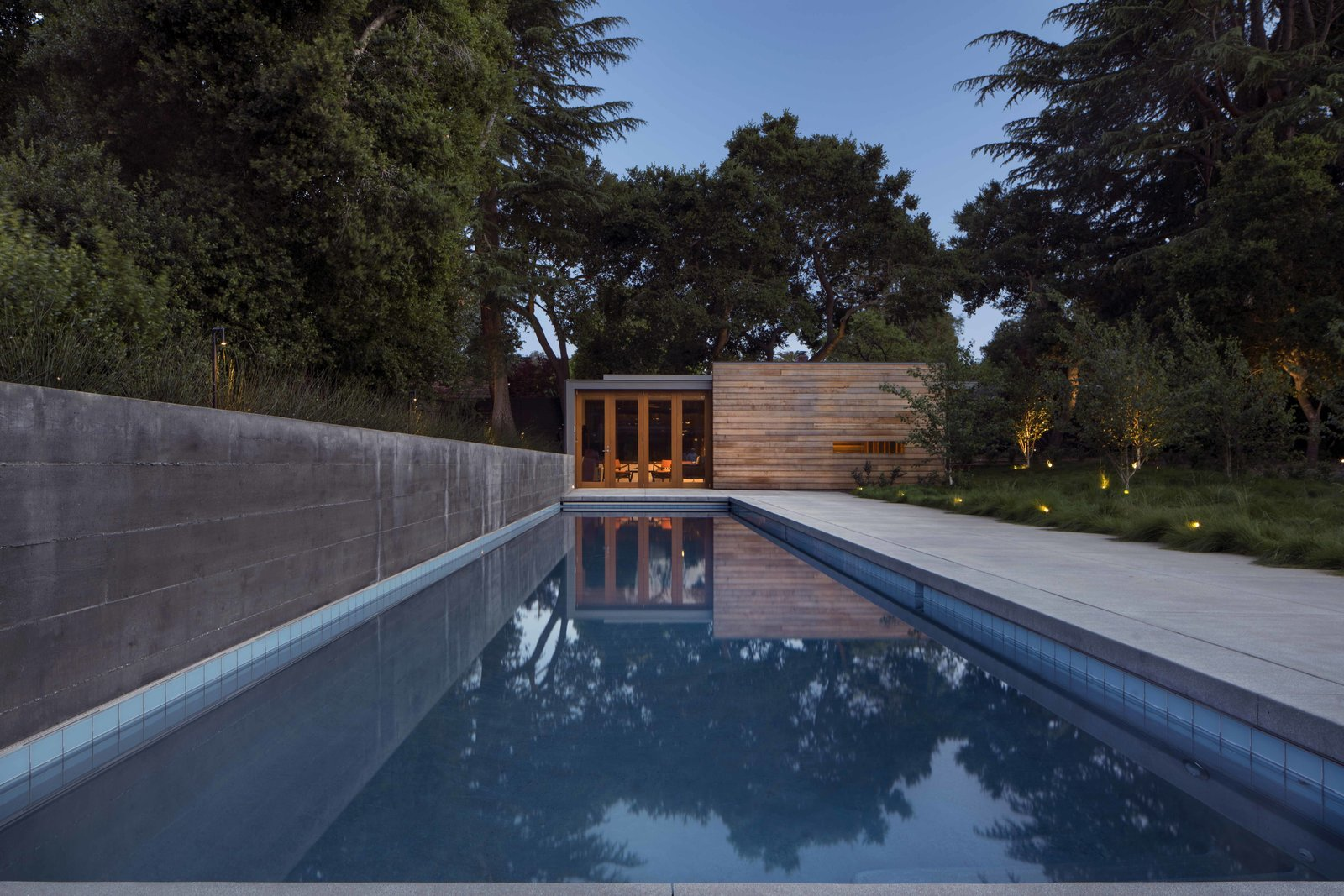 Photo 5 of 12 in Take a Plunge Into These Enticing Modern Pools from Los Altos Modern Residence