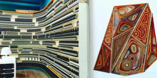 Aesop's Strand Arcade Store, CBD, Koskela with a collaborative exhibition by Australian Artist Mavis Warrngilna Gambarr Photography: Marcus Hay for SMH, Inc