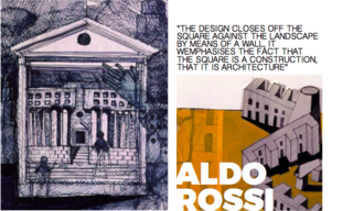Left and Right: Sketches for Aldo Rossi's projects