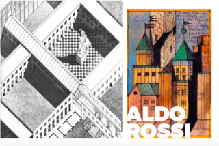 More of Aldo Rossi's amazing sketches for his projects