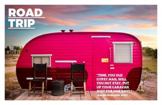 Road Trip - Photo 1 of 6 - Trailers from another era have a new life and are permanently off road at Hotel El Cosmico in Marfa/ Texas. This picture first appeared in Hotels we Love at the Dwell website.