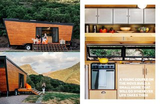 "The amazing ""Woody"" These images first appeared on Dwell in A Tiny DIY Trailer Home Built by a couple on a budget at Dwell here."