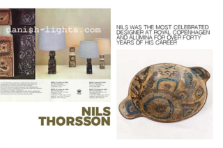 Left: From a advert for Baca lamp bases, Right: A bowl from the Baca range