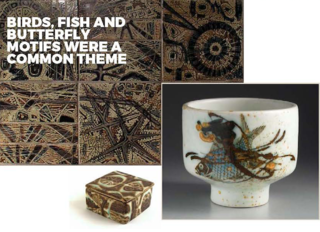 From the Baca range, including tiles, a trinket box and a beautifully inspired Japanese silhouette sake cup