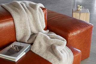 All About Alpaca - Photo 2 of 3 - Cozy up with our Natural Alpaca Throw; Source Nicole LaMotte/Parachute